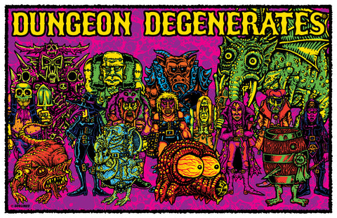 Dungeon Degenerates Wurstreich Shield Die-Cut Vinyl Sticker