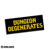 DUNGEON DEGENERATES LETTERS LOGO VINYL STICKER