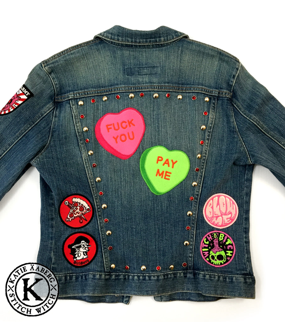 Stitch Witch - Fuck You - Pay Me - Custom Jacket