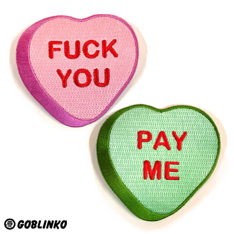 Fuck You - Pay Me Enamel Pin Set