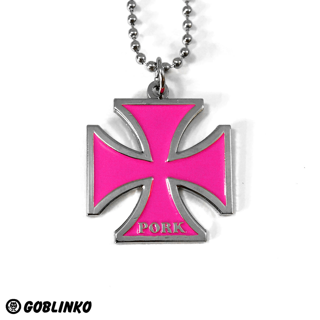 PORK Iron Cross - Pink