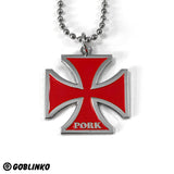 PORK IRON CROSS-RED