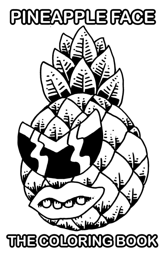 Pineapple Face Coloring Book