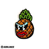 Pineapple Face Enamel Pin