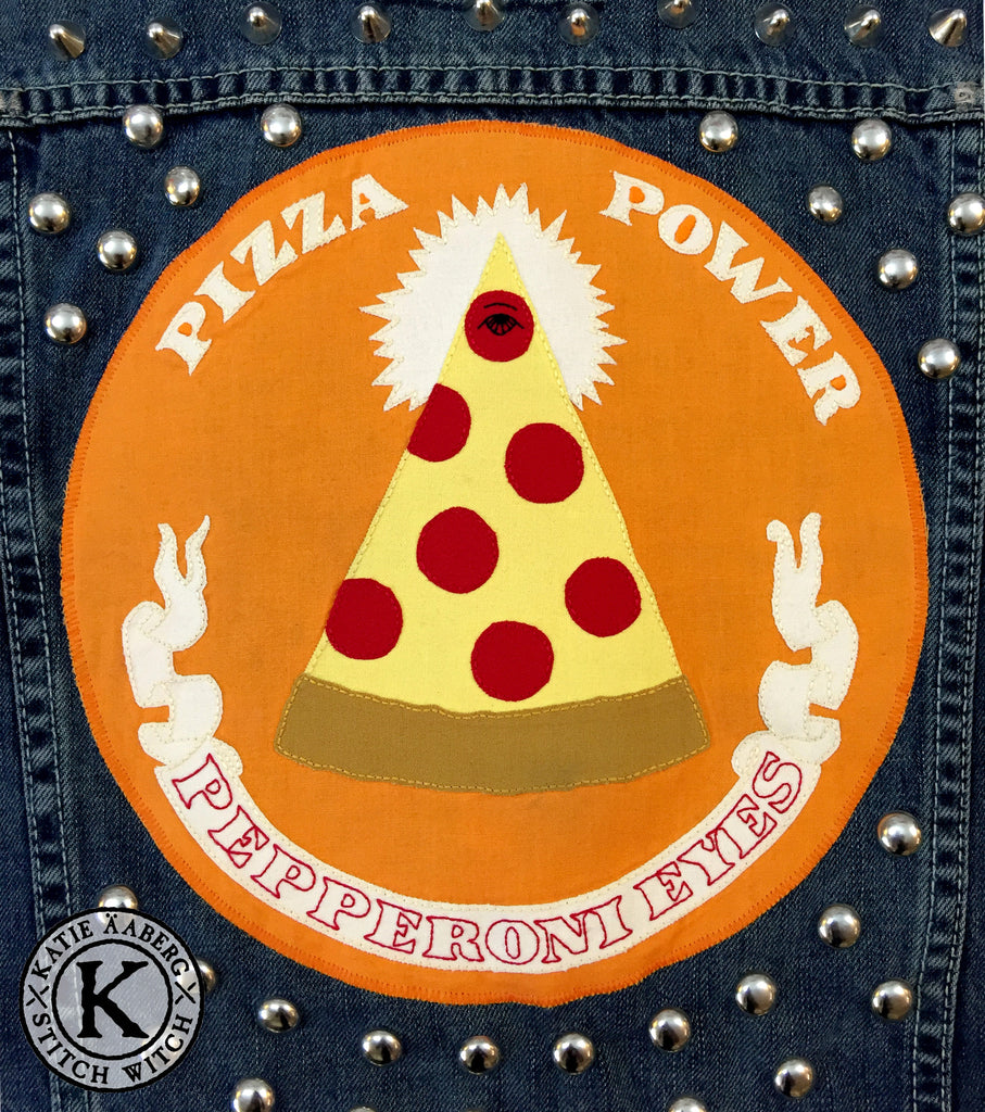 Stitch Witch - Pizza Power - Custom Jacket