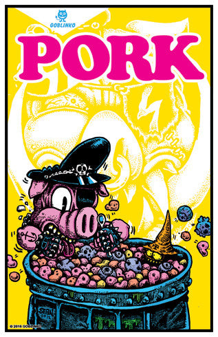 PORK #6 PORK for Breakfast Poster