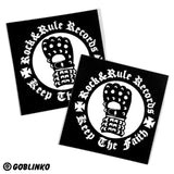 ROCK&RULE RECORDS VINYL STICKERS
