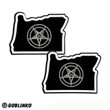 SATANIC OREGON STICKERS