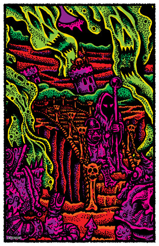 "The Maze by Sean Äaberg - 24"" x 36"" Big Poster"