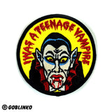 I WAS A TEENAGE VAMPIRE PATCH