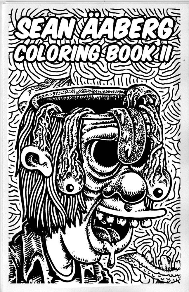Sean Aaberg Weirdo Art Coloring Books Set (1-5)