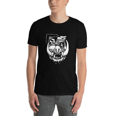 Mickey Bat on Black Short-Sleeve Unisex T-Shirt
