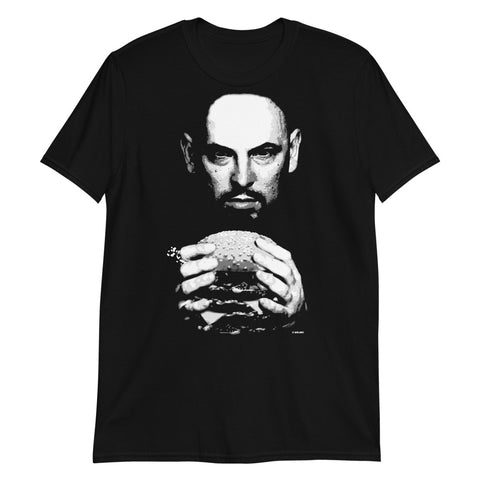 Pink Eye on Black Short-Sleeve Unisex T-Shirt