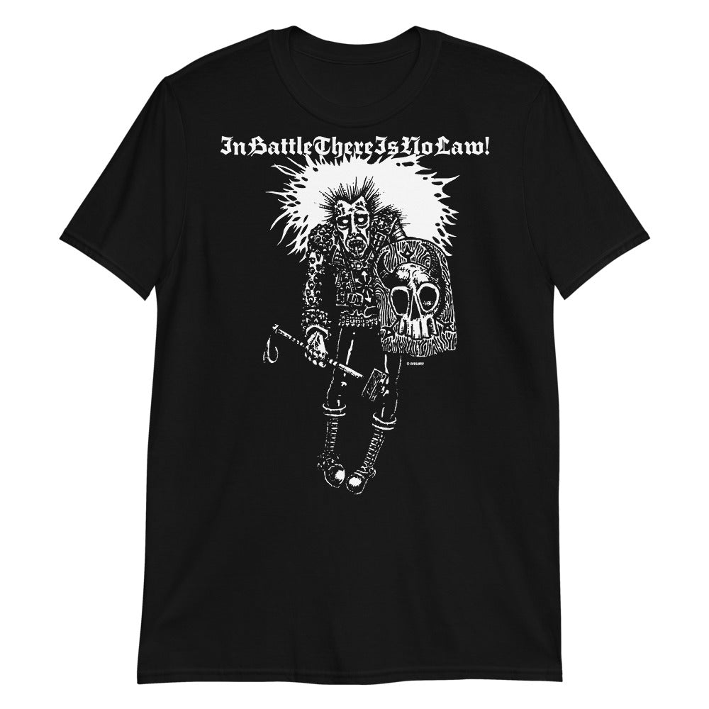 In Battle There Is No Law on black Short-Sleeve Unisex T-Shirt