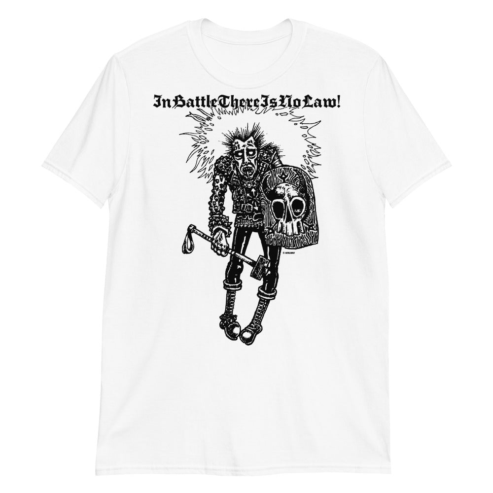 In Battle There Is No Law On White Short-Sleeve Unisex T-Shirt