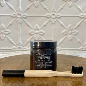 Peppermint and Charcoal Tooth Powder by The Willow's Bark