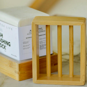 Bamboo Soap Shelf by No Tox Life
