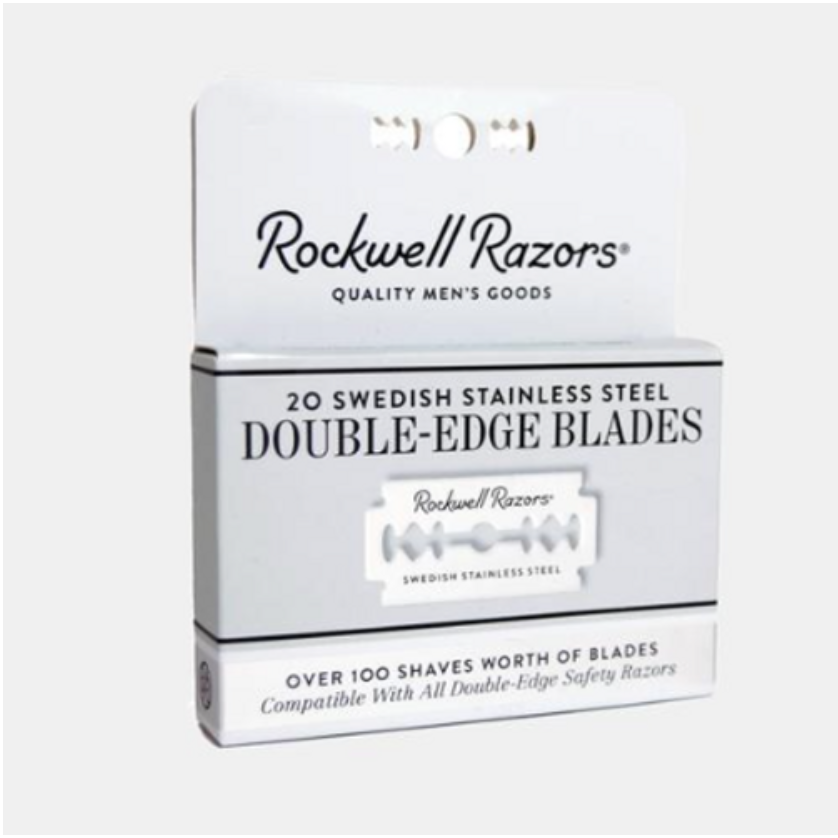 Double Edge Razor Blades by Rockwell (20 Pack)