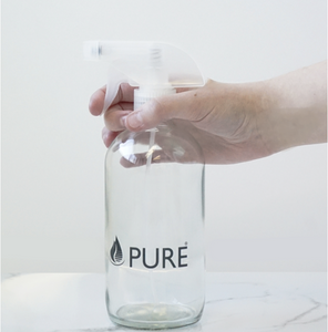 Clear Glass Spray Bottle