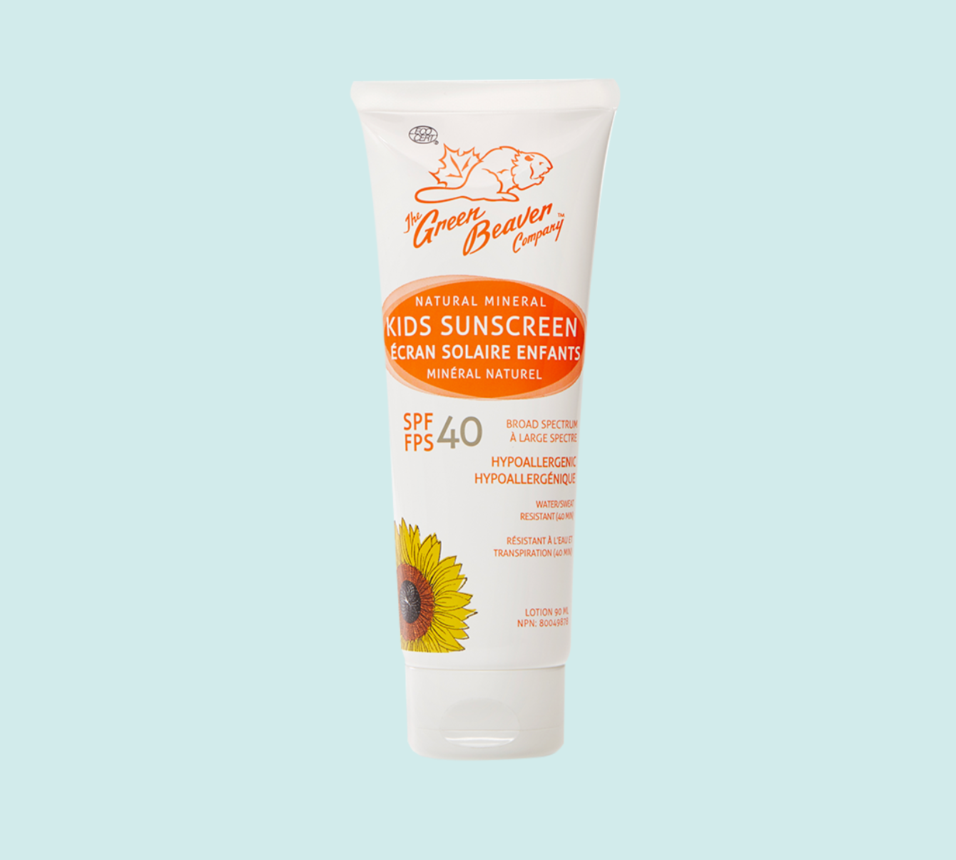 Kids Mineral Sunscreen Cream by The Green Beaver Company- SPF 40