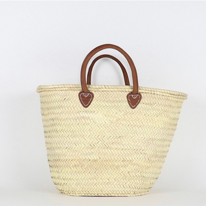 Santiago French Basket with Leather Handle