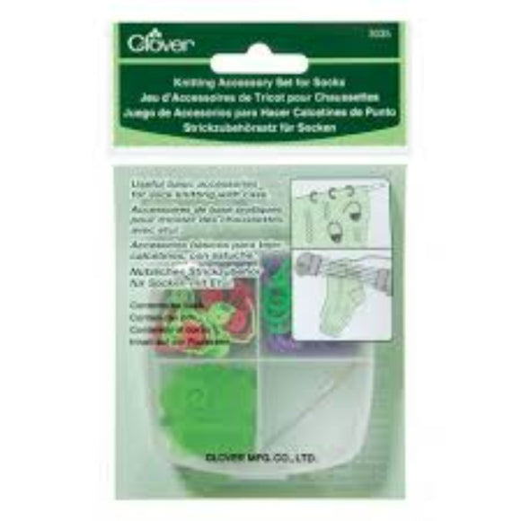 Clover Knitting Accessory Set for Socks