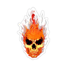 Load image into Gallery viewer, Flaming Skull Kiss-Cut Sticker