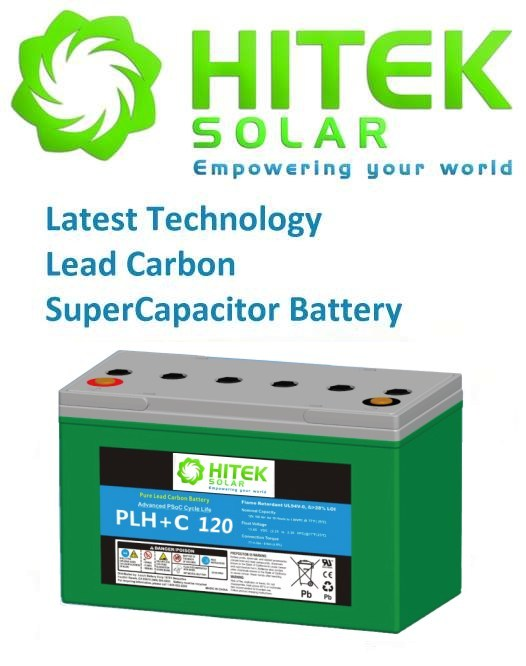 12v 100Ah Pure Lead Carbon Battery Hitek