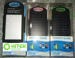 Solar Charger Power Bank - 8000mAh Lithium battery storage + 12 LED Flood Light + 3.5w External Solar Panel (Xmas Special Promo) !!