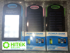 Solar Charger Power Bank - 8000mAh Lithium battery storage + 12 LED Flood Light