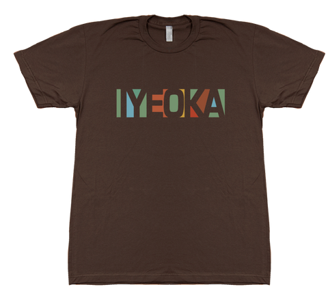 Iyeoka Large Logo on Brown T Shirt