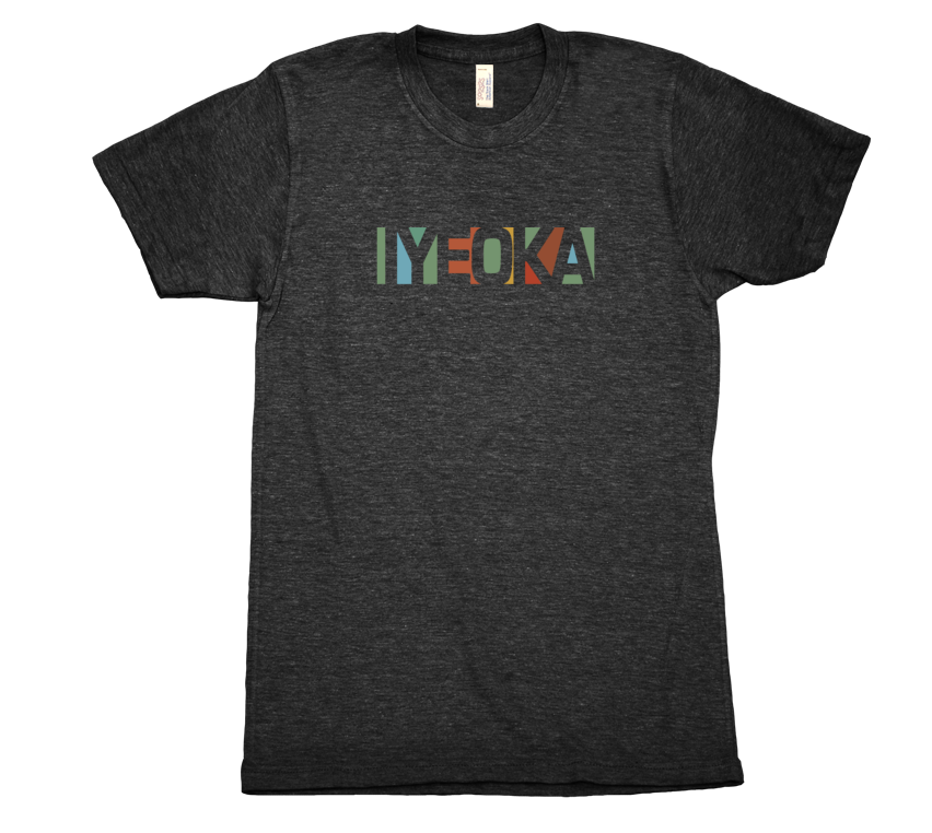 Iyeoka Small Logo on Black T Shirt