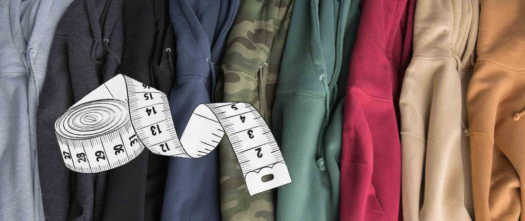 Sizing chart banner