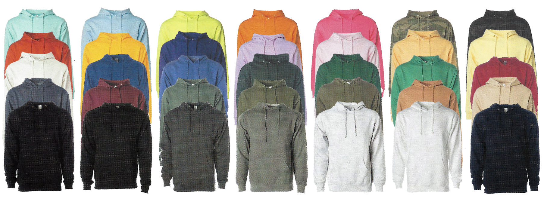 Wholesale Apparel Multiple Colors and Sizes For Hoodies, Outerwear, Jackets and Joggers