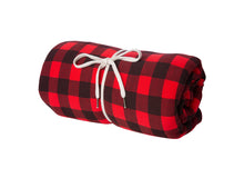 Load image into Gallery viewer, High Quality Red Plaid Fleece Throw Blanket