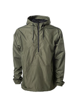 Load image into Gallery viewer, Mens Lightweight Army Green Windbreaker Anorak Jacket