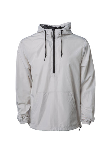 Mens Lightweight Smoke Light Grey Windbreaker Anorak Jacket