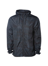Load image into Gallery viewer, Mens Super Lightweight Hooded Full Zip Up Windbreaker Jacket Top Black Bottom Black Camp