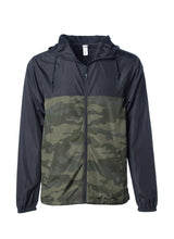 Load image into Gallery viewer, Mens Super Lightweight Hooded Full Zip Up Windbreaker Jacket Top Black Bottom Army Camo