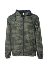 Load image into Gallery viewer, Mens Super Lightweight Hooded Full Zip Up Windbreaker Jacket Army Camp