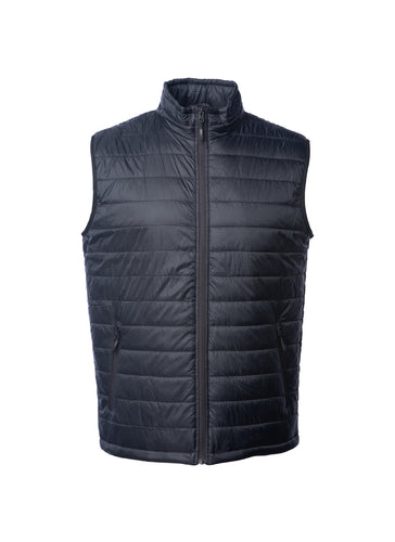 Mens Lightweight Full Zip Up Black Puffer Vest