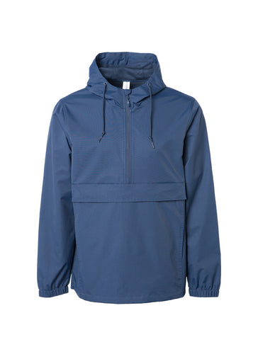 Water Resistant Navy Blue Anorak Windbreaker Jacket With A Hood