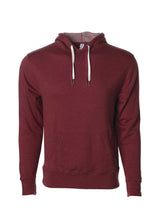 Load image into Gallery viewer, Unisex French Terry Hoodie Burgundy Pullover Sweatshirt