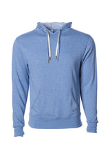 Load image into Gallery viewer, Unisex French Terry Hoodie Sky Heather Blue Pullover Sweatshirt