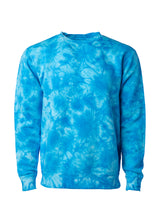 Load image into Gallery viewer, Unisex Fit Aqua Blue Tie Dye Crewneck Sweatshirt