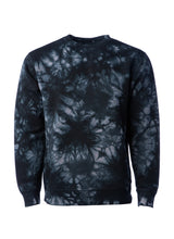 Load image into Gallery viewer, Unisex Fit Navy Black Tie Dye Crewneck Sweatshirt