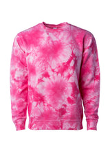 Load image into Gallery viewer, Unisex Fit Pink Tie Dye Crewneck Sweatshirt