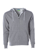 Load image into Gallery viewer, Lightweight Slim Fit Gunmetal Heather Zip Hoodie