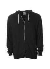 Load image into Gallery viewer, Lightweight Slim Fit Black Zip Hoodie