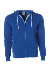 Load image into Gallery viewer, Lightweight Slim Fit Cobalt Blue Zip Hoodie
